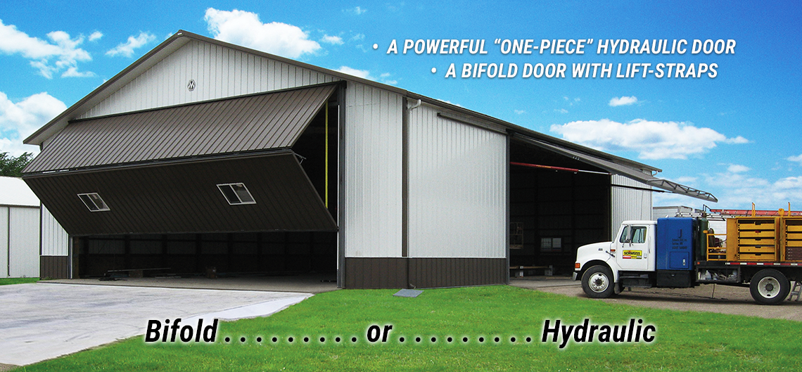Schweiss Doors has two styles. . . Bifold or Hydraulic!